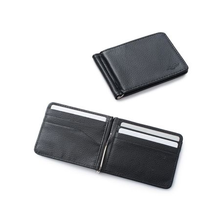 Zodaca Stylish Men's Slim Leather Bifold Wallet Purse Credit Card Holder Case with Removable Money Clip - (Money Credit Card Case)