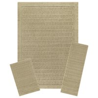 Mainstays Dylan Nylon 3-Piece 7'x10' Area Rug Set, Multiple Colors