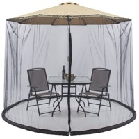 Best Choice Products 9ft Patio Umbrella Bug Screen w/ Zipper Door. Polyester Netting - Black
