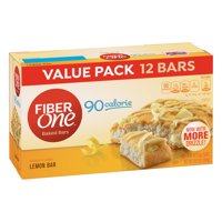 Fiber One 90 Calorie Soft-Baked Bar, Lemon Bar, 12 Fiber Bars, 10.6 oz (Value Pack)