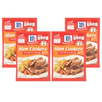 (4 Pack) McCormick Slow Cookers Savory Pot Roast Seasoning Mix, 1.3 oz