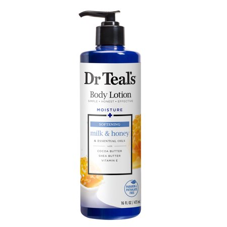 Dr Teal's Milk & Honey Body Lotion, 16 oz. 16 Oz Sensual Body Lotion