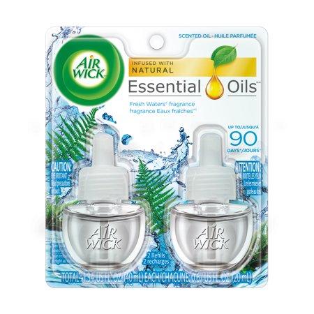 Air Wick Scented Oil 2 Refills, Fresh Waters, (2X0.67oz), Air -