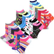 4e16060c0 TeeHee Women s Fashion No Show Fun Socks 18 Pairs Packs (Black-Grey-White