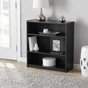 "Mainstays 31"" 3-Shelf Standard Bookcase, Black"