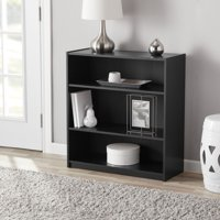 "Mainstays 31"" 3-Shelf Standard Bookcase, Black"