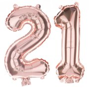 Non Floating 21 Number Balloons 21st Birthday Party Supplies Decorations Small 13 Inch Rose