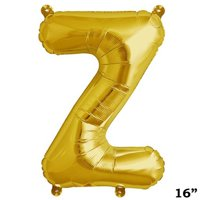 """Efavormart Gold 16"""" tall Alphabet Letters / Number Foil Balloons Party Wedding Decorations Graduation New Year Eve Party Supplies"""