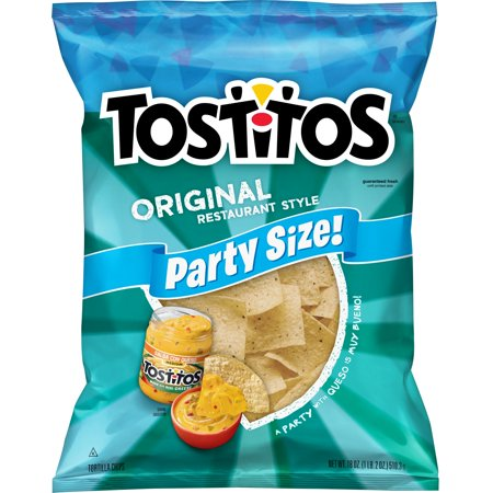 Tostitos Original Restaurant Style Tortilla Chips, Party Size, 18 oz Bag (White Cheddar Tortilla Chip)