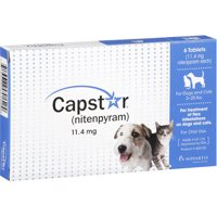 Capstar Fast-Acting Oral Flea Treatment for 2-25lb Dogs – 6 Doses