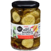 Sam's Choice Spicy Maple Bourbon Fresh Pack Pickle Chips, 24 fl oz