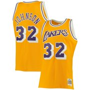 0c6a180ee2b Magic Johnson Los Angeles Lakers Mitchell & Ness Big & Tall Hardwood  Classics Jersey - Gold