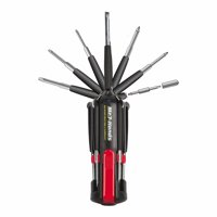 Apollo Tools DT1019 Mr. 7 Hands Multi-Tool Screwdriver, Black and Red Hands