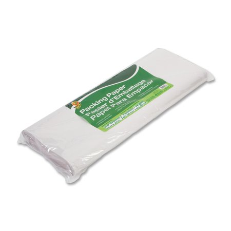 Mailroom Packing Materials - Duck Packing Paper and Void Fill, 24 in. x 24 in., White, 120-Count