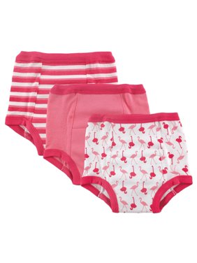 Luvable Friends Baby Boy and Girl Training Pants, 3-Pack - 4T - Flamingo