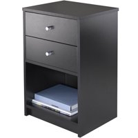 Winsome Trading Company Ava 2-Drawer Nightstand, Black