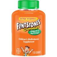 Flintstones Gummies Children's Multivitamin plus Immunity Support*, Children's Multivitamin Supplement with Vitamins C, D, E, B6, and B12, 150 Count