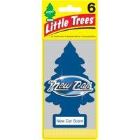 LITTLE TREES air freshener New Car Scent 6-Pack