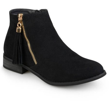 - Brinley Co. Womens Side Zip Faux Suede Ankle Boots