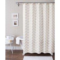 Better Homes and Gardens Metallic Chevron Fabric 13-Piece Shower Curtain Set