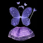 0c16c8819 Girls Dress Up Princess Fairy Costume Set with Dress, Wings, Wand and  Headband for. Product Variants Selector. Purple