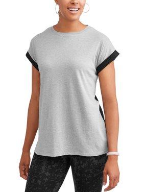 Women's Athleisure Super Soft Short Sleeve Colorblock T-Shirt