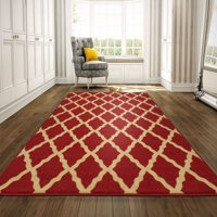 Ottomanson Ottohome Collection Contemporary Morrocan Trellis Design Non-Slip Rubber Backing Area or Runner Rug