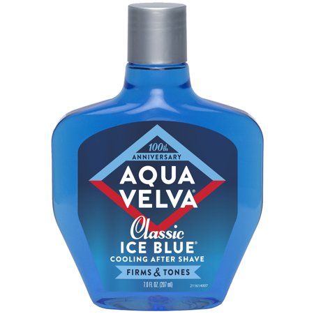 Aqua Velva After Shave, Classic Ice Blue Scent that Cools, Firms and Tones Skin, 7 Fluid Ounce