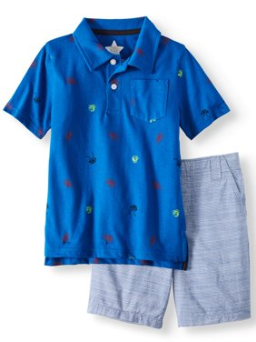 Polo Shirt & Woven Shorts, 2-Piece Outfit Set (Little Boys & Big Boys)