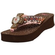 ef6b608abcb3a Blazin Roxx Western Shoes Womens Camie Flip Flops Pink 4117030