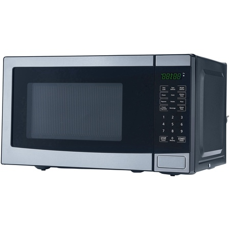 Mainstays 0.7 Cu. Ft. 700W Stainless Steel Microwave with 10 Power