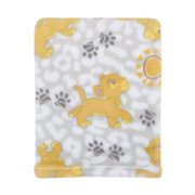 Disney Lion King Plush Grey, Gold Baby Blanket