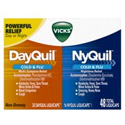 Vicks DayQuil and NyQuil Cold & Flu Relief LiquiCaps Convenience Pack 48 Count
