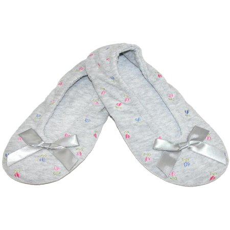 Women's Embroidered Terry Ballerina Slippers](Bearpaw Slippers On Sale)
