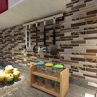 "Art3d 12"" x 12"" Peel and Stick Tiles for Kitchen Backsplash Self Adhesive Wall Tile 3D Wall Sticker"