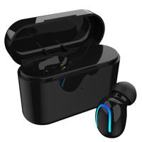 Wireless Bluetooth V5.0 Earset Ultra Mini Earbud Invisible Single Ear Secret Spy Tiny Hidden Earphone.(1-Black)