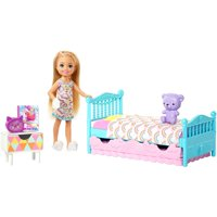 Barbie Club Chelsea Bedtime Doll & Playset