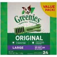 Greenies Original Large Dental Dog Treats, 36 oz. Pack (24 Treats)