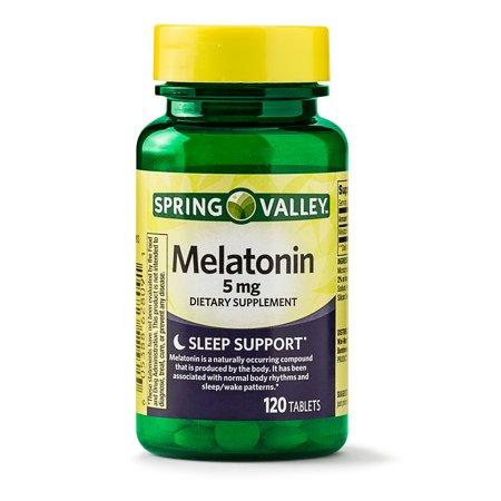 Comfort 120 Tablets (Spring Valley Melatonin Tablets, 5 mg, 120 Ct)