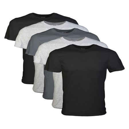 Mens Short Sleeve Crew Assorted Color T-Shirt, 5-Pack