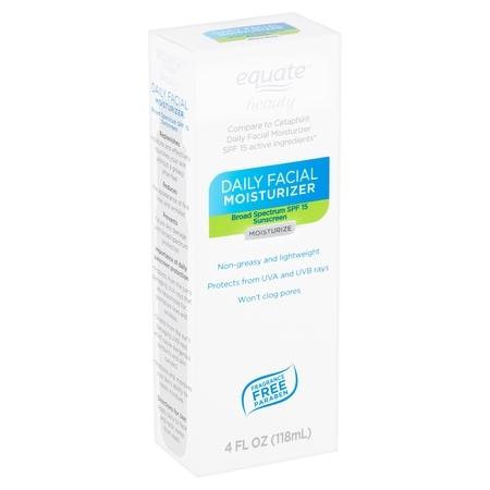 Equate Beauty Daily Facial Moisturizer, SPF 15, 4 oz