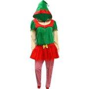 Christmas Elf Onesie Hooded Skirted Women s Union Suit Pajama f68b3626d
