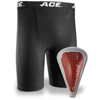 ACE Compression Short and Cup, Teen, Small/Medium, Black, 1/pack