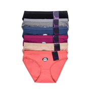 ea86026f118d 6 Pack of Women Cotton Stretch Bikini Panties Mid Rise Basic Everyday Soild  Color Underwear