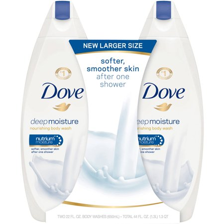 Dove Deep Moisture, Sulfate Free Moisturizing Body Wash, 22 oz, Twin Pack (Bora Bora Body Wash)