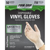(2 Pack) Firm Grip Vinyl Glove, 50-Count