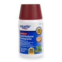 Equate Acid Reducer Complete Chewable Tablets, Mint, 50 Ct