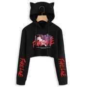 cacc7f1e3f3 Fancyleo BTS Album Love Yourself Tear Fake Love Kpop Long Sleeve Cropped Hoodies  Sweatshirt Women Cat