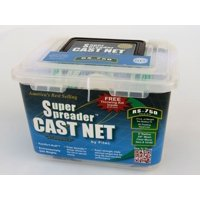 "FITEC RS750 Super Spreader Cast Net White Nylon 4' x 3/8"" mesh, 3/4 Lb wts"