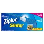 Ziploc Slider Freezer Bags, Gallon, 45 Count